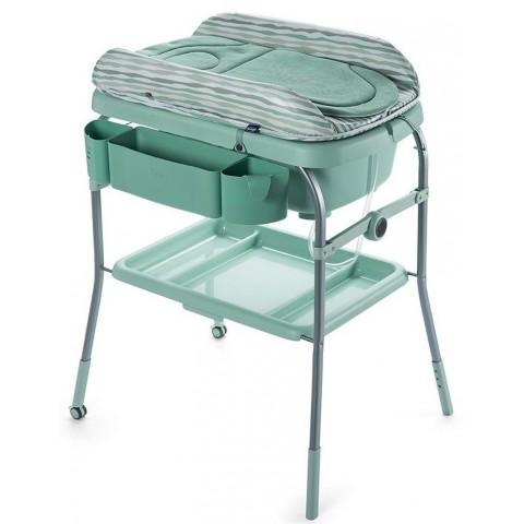 Столик для пеленания + ванночка Chicco, цвет - dusty green