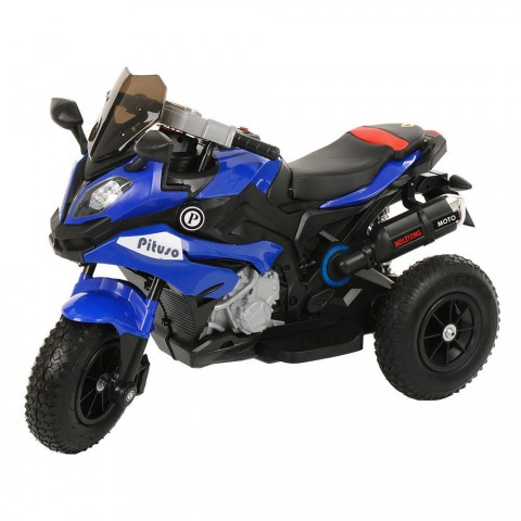 PITUSO: Электромотоцикл HLX2018/2, 12V/7Ah*1,колеса надув.,108х46х76 см, Blue/ Синий (музыка,свет)
