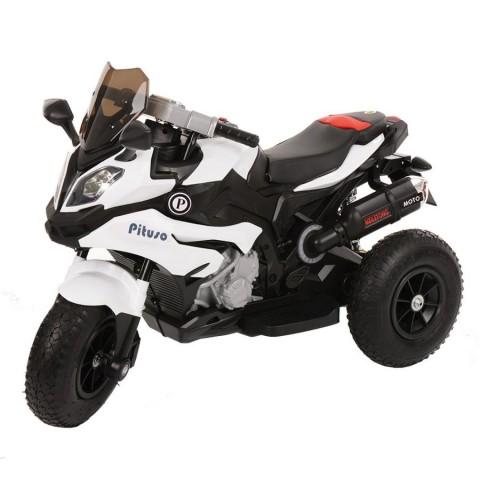 PITUSO: Электромотоцикл HLX2018/2, 12V/7Ah*1,колеса надув.,108х46х76 см, White/Белый (музыка,свет)