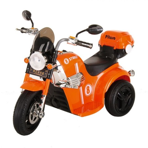 PITUSO: Электро-Мотоцикл MD-1188, 6V/4Ah*1, колеса пластик 90х43х54 см, Orange / Оранжевый
