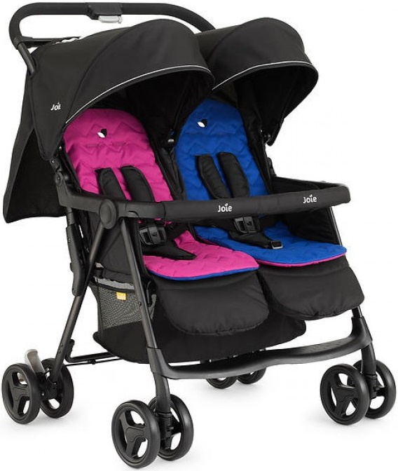 Joie Aire Twin Stroller, цвет - Pink & Blue